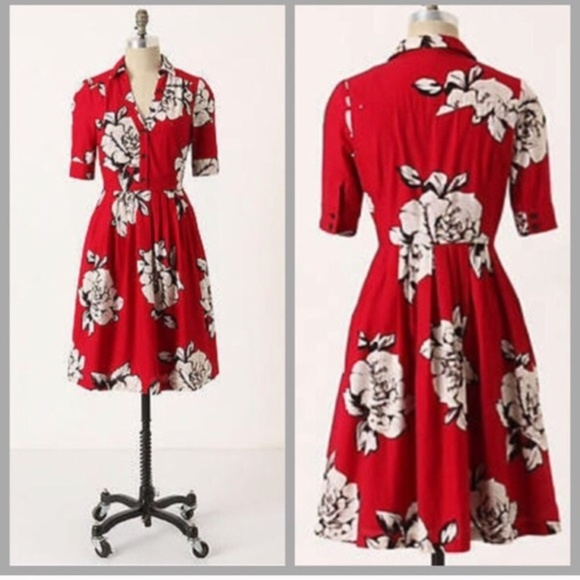 f201f90cc27d9 Anthropologie Dresses & Skirts - Anthropologie Maeve Dagmar Shirtdress  pockets
